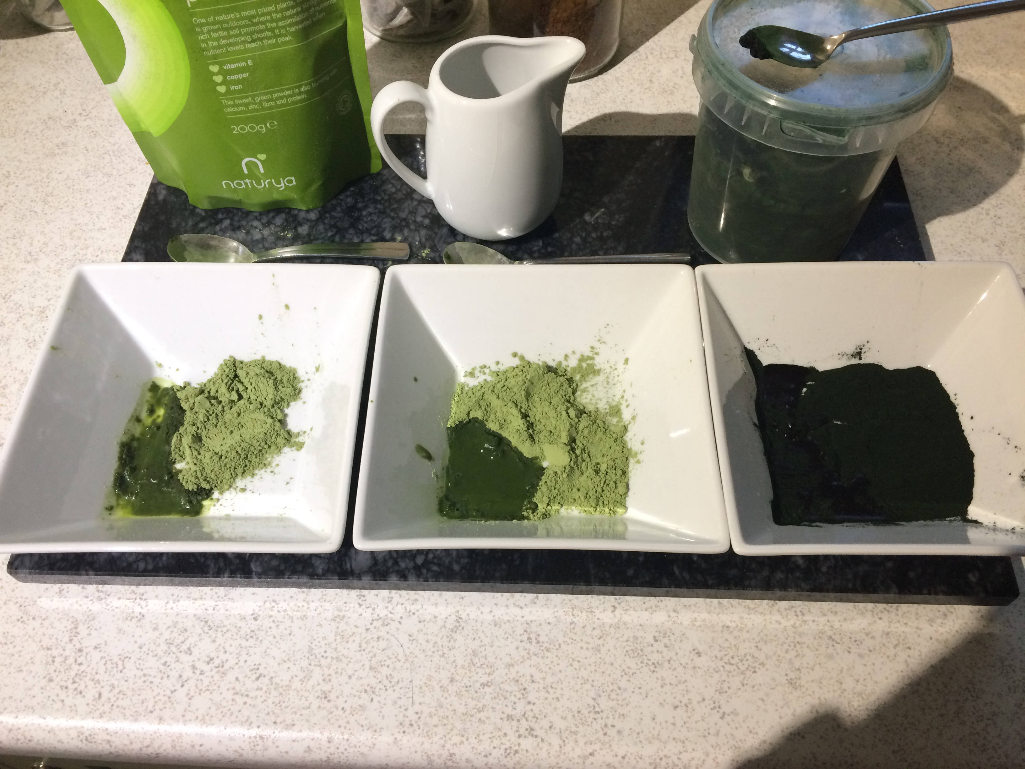 Choice of green powders